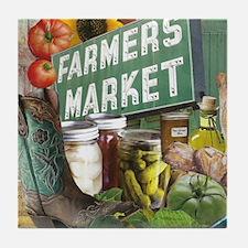 Farmers Market Tile Coaster