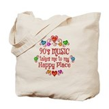 90s music Regular Canvas Tote Bag