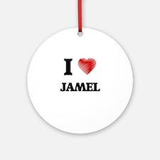 I love Jamel Round Ornament