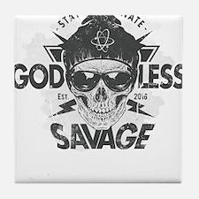 Cute Atheist hitch Tile Coaster
