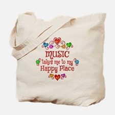 Music Happy Place Tote Bag
