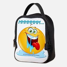 Funny Smiley face mens Neoprene Lunch Bag