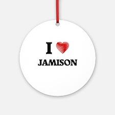 I love Jamison Round Ornament