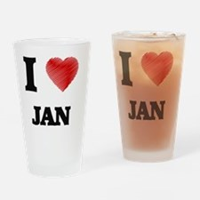 I love Jan Drinking Glass