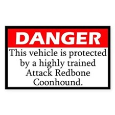 Attack Redbone Coonhound Decal