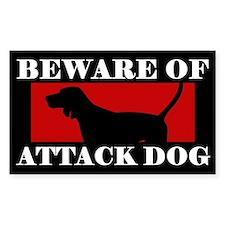 Beware of Attack Dog Redbone Coonhound Decal