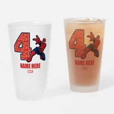 Spider-Man Personalized Birthday 4 Drinking Glass