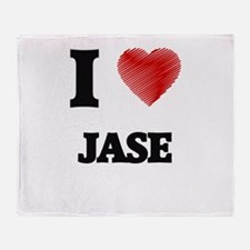 I love Jase Throw Blanket