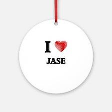 I love Jase Round Ornament
