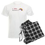 I Love Rainbows Men's Light Pajamas