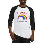 I Love Rainbows Baseball Jersey