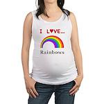 I Love Rainbows Maternity Tank Top