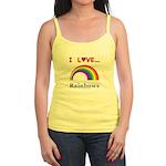 I Love Rainbows Jr. Spaghetti Tank