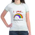 I Love Rainbows Jr. Ringer T-Shirt