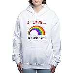 I Love Rainbows Women's Hooded Sweatshirt