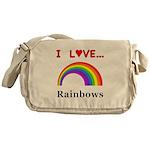 I Love Rainbows Messenger Bag