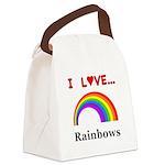 I Love Rainbows Canvas Lunch Bag