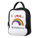 I Love Rainbows Neoprene Lunch Bag