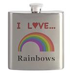 I Love Rainbows Flask