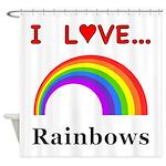 I Love Rainbows Shower Curtain