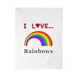 I Love Rainbows Twin Duvet