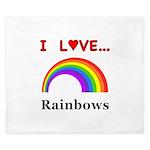 I Love Rainbows King Duvet