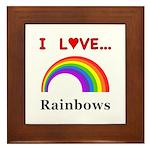 I Love Rainbows Framed Tile