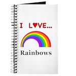 I Love Rainbows Journal