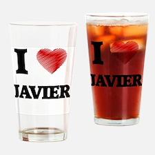 I love Javier Drinking Glass