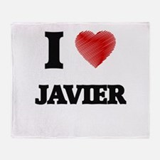 I love Javier Throw Blanket