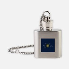 The Conch Republic Flag Flask Necklace