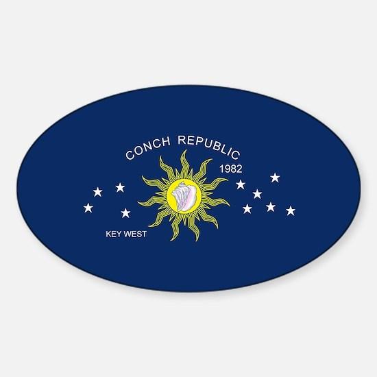 The Conch Republic Flag Bumper Stickers
