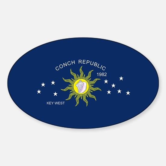 The Conch Republic Flag Decal