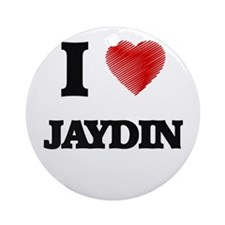 I love Jaydin Round Ornament