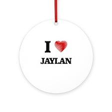 I love Jaylan Round Ornament