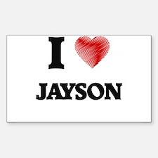 I love Jayson Decal