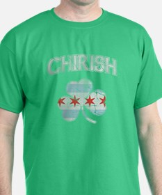 Irish Flag of Chicago Chirish Shamrock T-Shirt