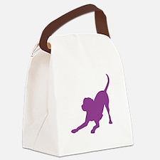 Lab 1C Purple Canvas Lunch Bag
