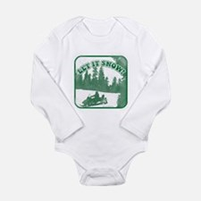 Cool Snowmobile Long Sleeve Infant Bodysuit