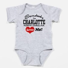 Unique I love north carolina Baby Bodysuit