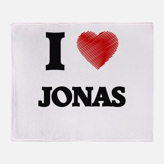 I love Jonas Throw Blanket