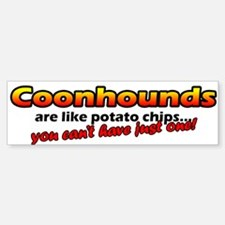 Potato Chips Coonhound Bumper Bumper Bumper Sticker