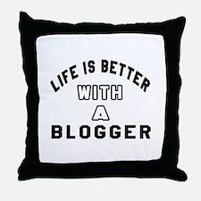 Blogger Designs Throw Pillow