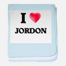 I love Jordon baby blanket