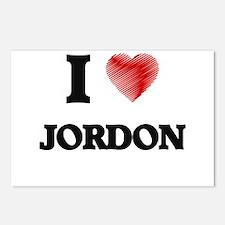 I love Jordon Postcards (Package of 8)