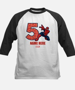 Spider-Man Personalized Birth Kids Baseball Jersey