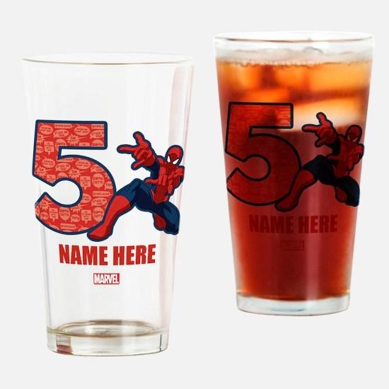 Spider-Man Personalized Birthday 5 Drinking Glass