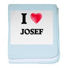 I love Josef baby blanket