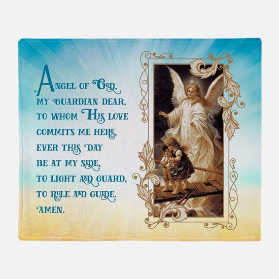 Angel of God (Day) Throw Blanket