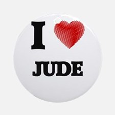 I love Jude Round Ornament